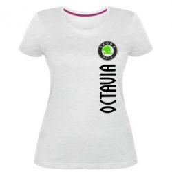 Женская стрейчевая футболка Skoda Octavia