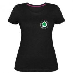 Жіноча стрейчева футболка Skoda Small