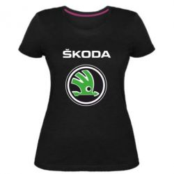 Женская стрейчевая футболка Skoda