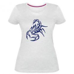 Жіноча стрейчева футболка 2 скорпіон