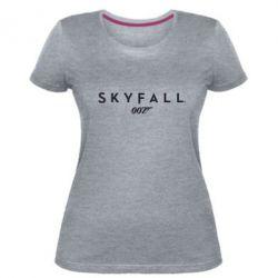 Женская стрейчевая футболка Skyfall 007 - FatLine