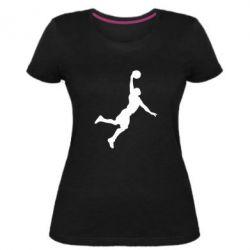 Женская стрейчевая футболка Slam dunk