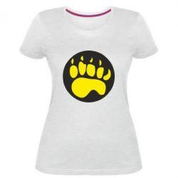 Женская стрейчевая футболка след