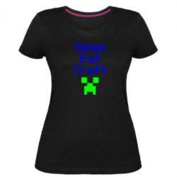Жіноча стрейчева футболка Sleep,eat, craft