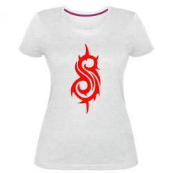 Жіноча стрейчева футболка Slipknot
