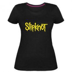 Женская стрейчевая футболка Slipknot - FatLine
