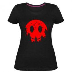 Жіноча стрейчева футболка Smiley Moon