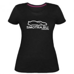 Женская стрейчевая футболка Smotra UA