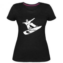 Жіноча стрейчева футболка Snow Board