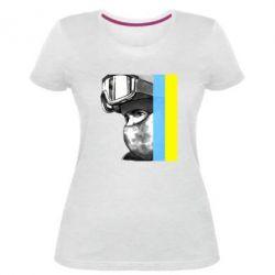 Женская стрейчевая футболка Солдат ато