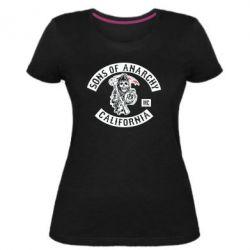 Женская стрейчевая футболка Sons of Anarchy Samcro Original