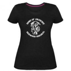 Жіноча стрейчева футболка Sons of Anarchy