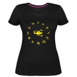 Жіноча стрейчева футболка сорпион 4