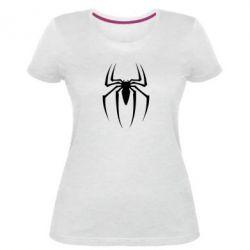 Женская стрейчевая футболка Spider Man Logo - FatLine