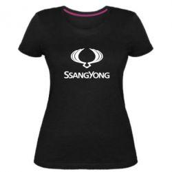 Жіноча стрейчева футболка SsangYong Logo