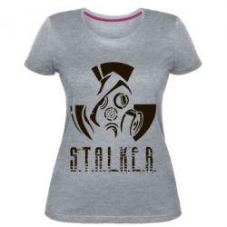 Купить Женская стрейчевая футболка Сталкер, FatLine