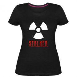 Женская стрейчевая футболка Stalker