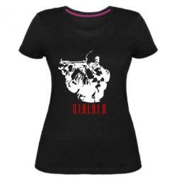 Женская стрейчевая футболка Stalker - FatLine