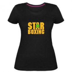 Жіноча стрейчева футболка Зірка Боксу