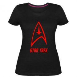 Жіноча стрейчева футболка Star Trek