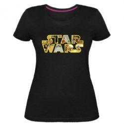 Жіноча стрейчева футболка Star Wars 3D