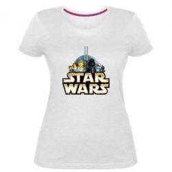 Жіноча стрейчева футболка Star Wars Lego