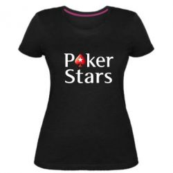 Жіноча стрейчева футболка Stars of Poker - FatLine