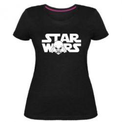 Жіноча стрейчева футболка StarWars Logo