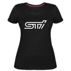 Женская стрейчевая футболка STI Logo