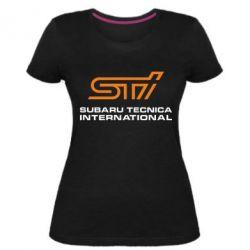 Жіноча стрейчева футболка STI