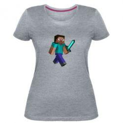 Женская стрейчевая футболка Стив