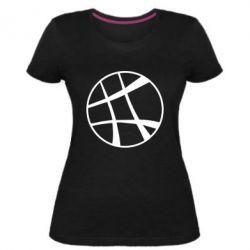 Женская стрейчевая футболка Strange Logo