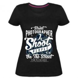 Жіноча стрейчева футболка Street Photographer