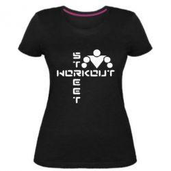 Женская стрейчевая футболка Street Workout крест