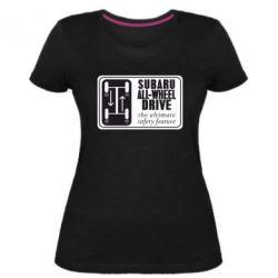 Жіноча стрейчева футболка Subaru All-Wheel