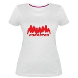 Женская стрейчевая футболка Subaru Forester
