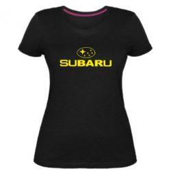 Женская стрейчевая футболка Subaru - FatLine