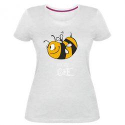 Женская стрейчевая футболка Сумасшедшая пчелка