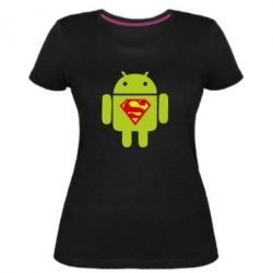 Жіноча стрейчева футболка Super Android