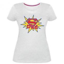 Женская стрейчевая футболка Super Dad