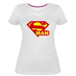 Женская стрейчевая футболка Super Man