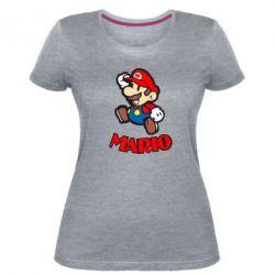 Женская стрейчевая футболка Супер Марио - FatLine