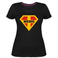 Жіноча стрейчева футболка Super Medic