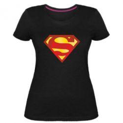 Женская стрейчевая футболка Superman Classic