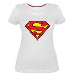 Женская стрейчевая футболка Superman Symbol