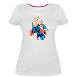 Жіноча стрейчева футболка Супермен Комікс