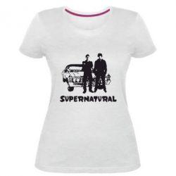Жіноча стрейчева футболка Supernatural Брати Вінчестери