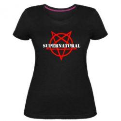 Женская стрейчевая футболка Supernatural