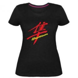 Женская стрейчевая футболка Suzuki Hayabusa