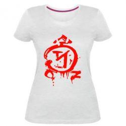 Женская стрейчевая футболка Сверхъестественное логотип - FatLine